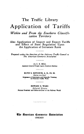 Application of tariffs: Southern classification territory