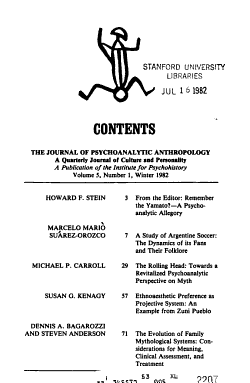 The Journal of Psychoanalytic Anthropology PDF