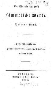 Sämmtliche Werke: Homiletische und katechetische Schriften: Hauspostille : dritter Band, Band 3