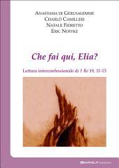 Che fai qui, Elia?: Lettura interconfessionale di 1Re 19,11-13