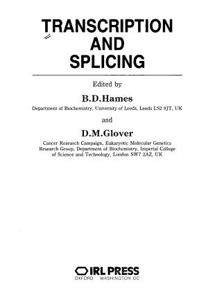 Transcription And Splicing