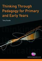 Thinking Through Pedagogy for Primary and Early Years PDF