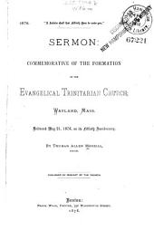 A Jubilee Shall that Fiftieth Near be Unto You ; Sermon: Commemorative of the Formation of the Evangelical Trinitarian Church Wayland, Mass. Delivered May 21, 1878, on Its Fiftieth Anniversary