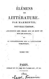 Élémens de Littérature: Volume7