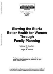 Slowing The Stork Book PDF