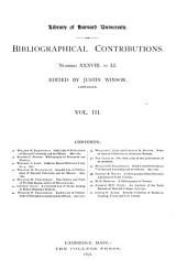 Bibliographical Contributions: Volume 3