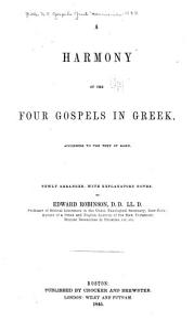 A Harmony of the Four Gospels in Greek PDF