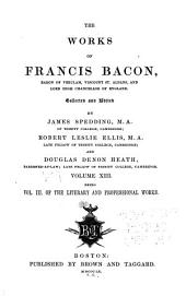 Works of Francis Bacon: Volume 13