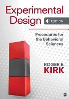 Experimental Design  Procedures for the Behavioral Sciences PDF