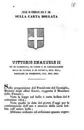 Legge 10 febbraio 1855 n. 530 sulla carta bollata