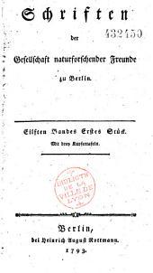 Schriften der Gesellschaft Naturforschender Freunde zu Berlin
