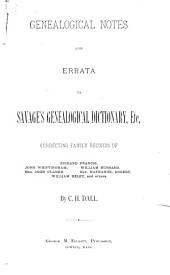 A Genealogical Dictionary of the First Settlers of New England: A-C