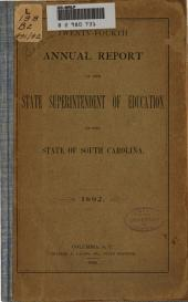 Annual Report of the State Superintendent of Education