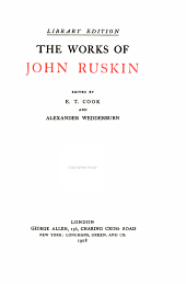 The Works of John Ruskin: Volume 33