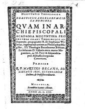 Disputatio theologica de officiis angelorum circa homines, respondente Stephano Webero