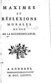 Maximes et réflexions, morales