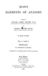Quain's Elements of Anatomy: Volume 1, Issue 1