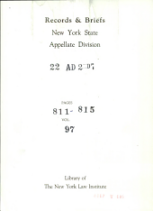 Supreme Court of the State of new York Appellate Division Second Judicial Department