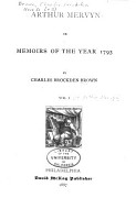 Arthur Mervyn PDF