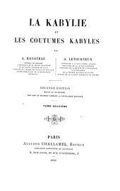 La Kabylie et les coutumes kabyles: Volume2