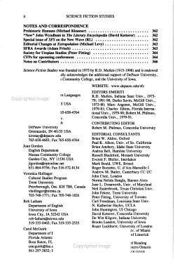 Science fiction Studies PDF