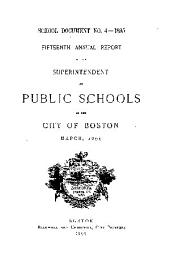 Documents of the School Committee of the City of Boston: Issue 4