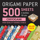 Origami Paper 500 Sheets Chiyogami Patterns 4 in 10 Cm