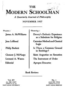 The Modern Schoolman PDF
