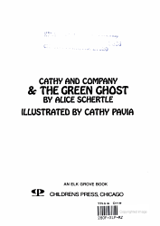 Cathy And Company The Green Ghost Book PDF
