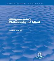 Wittgenstein s Philosophy of Mind  Routledge Revivals  PDF