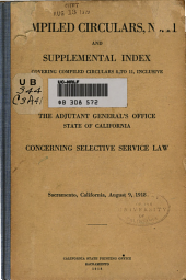 Concerning Selective Service Law ...: August 9, 1918