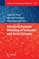 Advanced Dynamic Modeling of Economic and Social Systems PDF