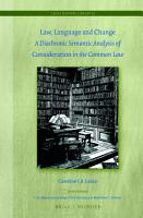 Law  Language and Change PDF