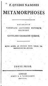 P. Ovidii Nasonis Metamorphoses: Volume 1