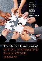 The Oxford Handbook of Mutual and Co Owned Business PDF