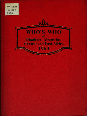 Who s who of Rhodesia  Mauritius  Central and East Africa PDF