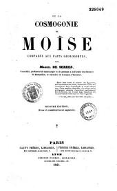 De la cosmogonie de Moïse, comparée aux faits géologiques