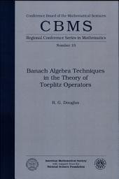 Banach Algebra Techniques in the Theory of Toeplitz Operators: Volume 15