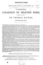 Catalogue of Roses. Edition for autumn, 1857, and spring, 1858