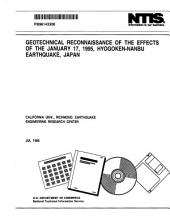 Geotechnical Reconnaissance of the Effects of the January 17, 1995, Hyogoken-Nanbu Earthquake, Japan
