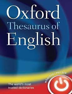 Oxford Thesaurus of English PDF
