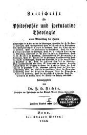 Zeitschrift für Philosophie und spekulative Theologie: Band 6
