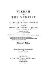 Vikram and the Vampire: Or, Tales of Hindu Devilry