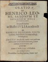 Oratio de Henrico Leone  Saxonum et Bavarorum duce potentissimo PDF