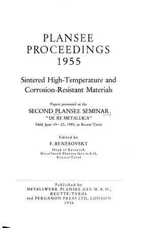 Sintered High temperature and Corrosion resistant Materials PDF