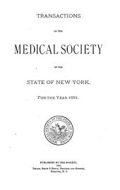 Transactions of the Medical Society of the State of New York