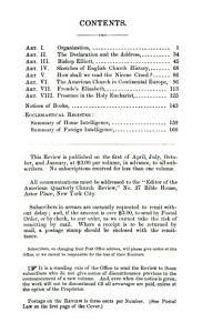 The American Quarterly Church Review PDF