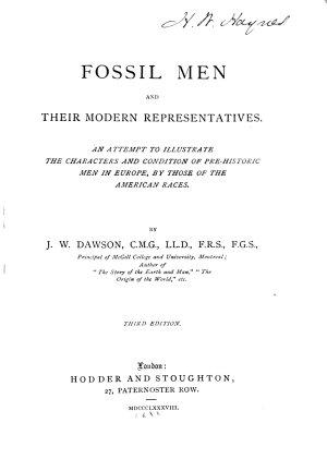 Fossil Men and Their Modern Representatives