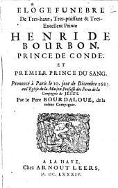 Eloge funebre de Henri de Bourbon Prince de Conde