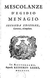 Mescolanze d'Egidio Menagio